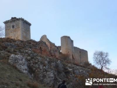 Castillo de Ucero - Senderismo Cañón del Río Lobos - castillos de españa; senderismo madrid sing